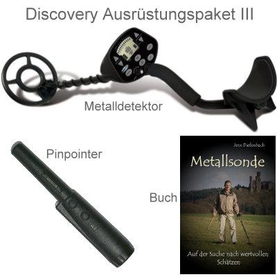 Discovery 3300 Ausrüstungspaket III (Metalldetektor & Pinpointer Xpointer & Schatzsucherhandbuch)