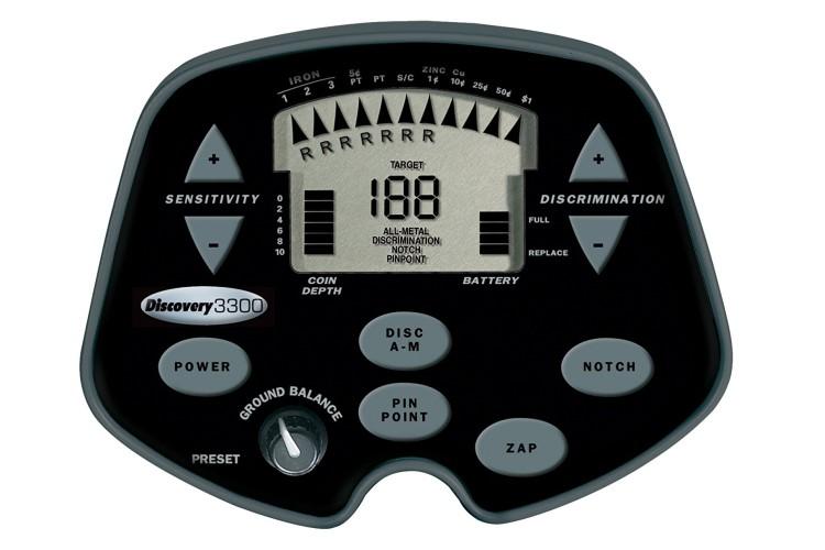 Discovery 3300 Metalldetektor mit gratis Kopfhörer