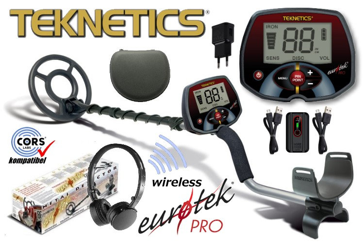 Metalldetektor Teknetics Eurotek PRO (LTE) wireless
