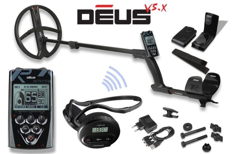 Metalldetektor XP DEUS X35 Komplettset mit Funkkopfhörer WS4 und 28cm Spule